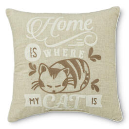 """Home is Where my Cat Is"" 14"" Throw Pillow view 1"