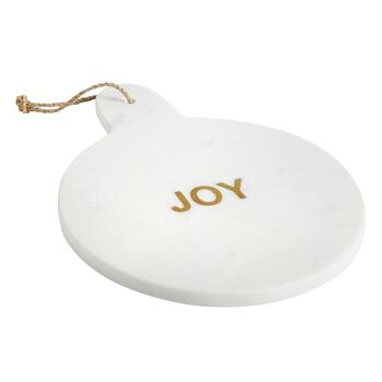 """Joy"" Round Marble Serving Board"