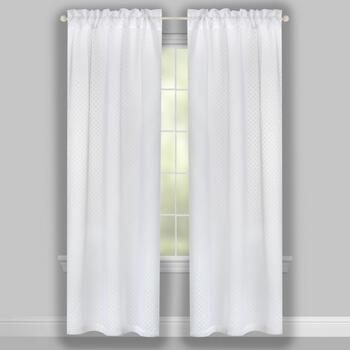 "84"" Dots Sheer Rod Pocket Window Curtains, Set of 2 view 2"