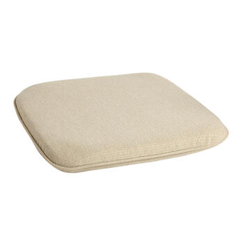 Solid Beige Woven Indoor/Outdoor Squared Seat Pad view 1