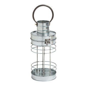 "11"" Cylinder Metal Tealight Lantern view 1"