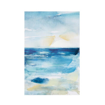 "16""x24"" Blue Ocean Abstract Canvas Wall Art view 1"