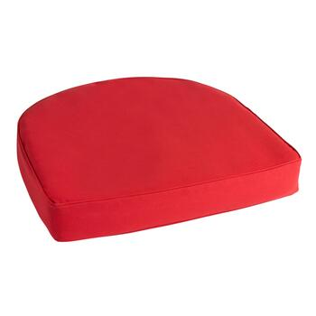 Solid Red Indoor/Outdoor Gusset Seat Pad