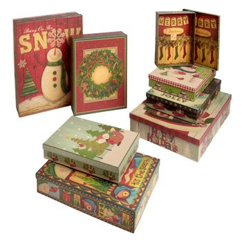 """Bring on the Snow"" Gift Boxes Set, 10-Piece"