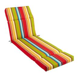 Fiesta Stripe Indoor/Outdoor Hinged Chaise Chair Pad