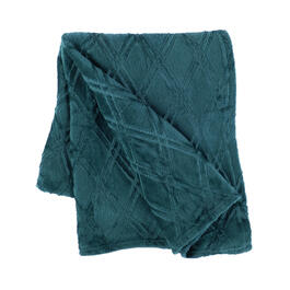 Solid Diamond-Embossed Velvety Throw view 1