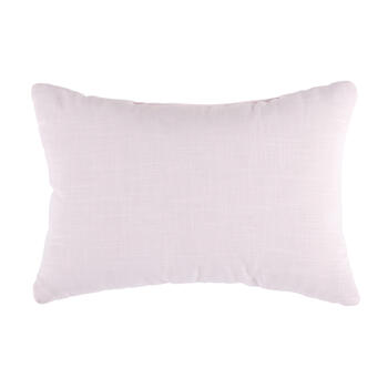 Pink Flowers Embellished Oblong Throw Pillow view 2
