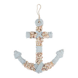 "17.5"" Rope-Wrapped Shell Anchor Wall Decor view 1"
