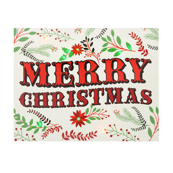 "11""x14"" ""Merry Christmas"" LED Canvas Wall Art view 1"