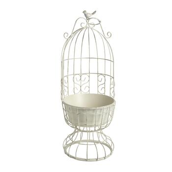 "23"" Metal Bird Cage Planter"