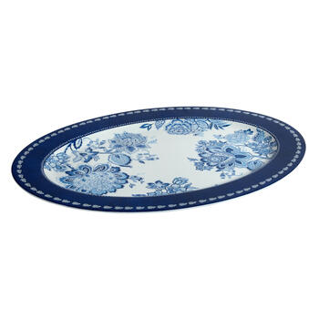 Waverly® Blue/White Floral Melamine Serving Platter view 1