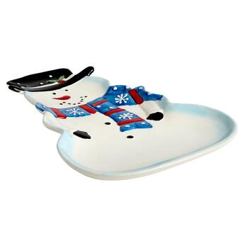 Snowman Ceramic Serving Platter view 2