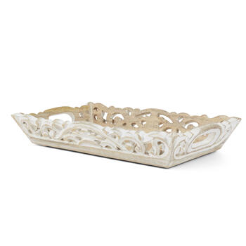 Petal and Stone™ White Wood Tray view 4