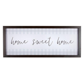 "The Grainhouse™ 20""x50"" ""Home Sweet Home"" Framed Wall Decor view 1"
