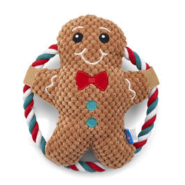 Plush Gingerbread Dog Toy view 1