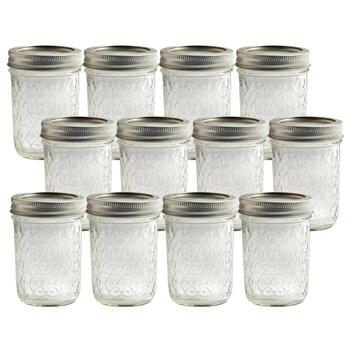 Ball® 8-oz. Quilted Jelly Jar Glasses, Set of 12