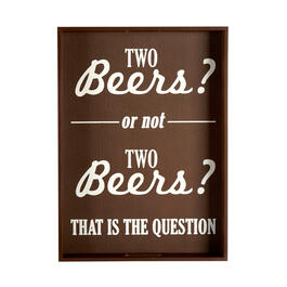 "16""x22"" ""Two Beers?"" Box Wall Decor view 1"