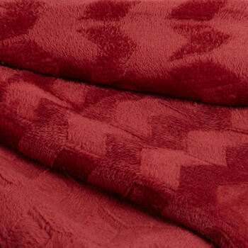 Solid Chevron-Embossed Velvety Throw view 2