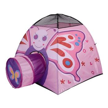 Pink Butterfly Indoor/Outdoor Play Tent