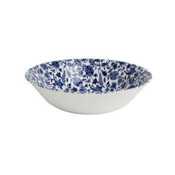 "9.5"" Blue/White Floral Ceramic Salad Bowl"