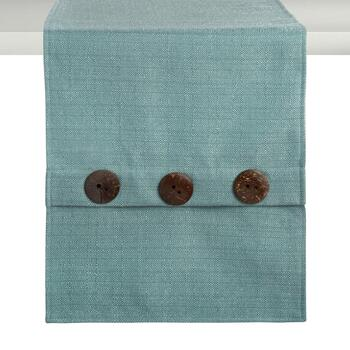 Solid Color Buttoned Table Runner