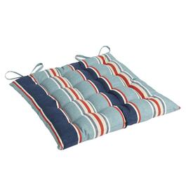 Alfresco™ Blue Striped Indoor/Outdoor Tufted Seat Pad