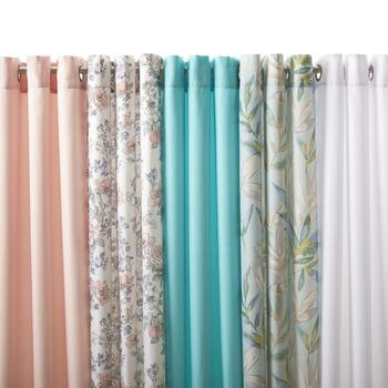 Grommeted Solid & Printed Window Curtains
