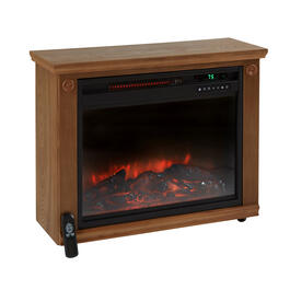 Infrared Quartz Fireplace with Remote view 1