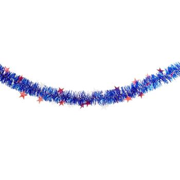 9' Tinsel Garlands with Die-Cut Stars, Set of 2 view 2