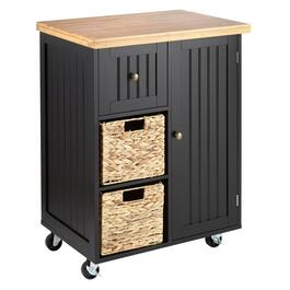 2-Basket/1-Drawer Rolling Kitchen Island