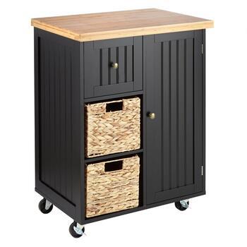 2-Basket/1-Drawer Rolling Kitchen Island