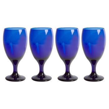 16.25-oz. Cobalt Glass Wine Goblets, Set of 4 view 1