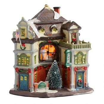"8"" Town Square Miniature Lighted Home"