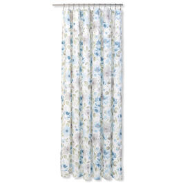 Petal and Stone™ Blue Pattern Textured Shower Curtain view 1