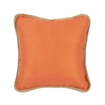 Solid Jute Square Throw Pillow
