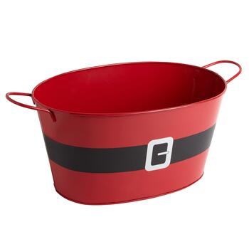 Santa's Belt Metal Party Tub