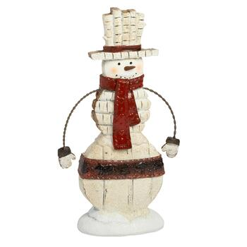 "12"" Holiday Snowman with Wire Arms"