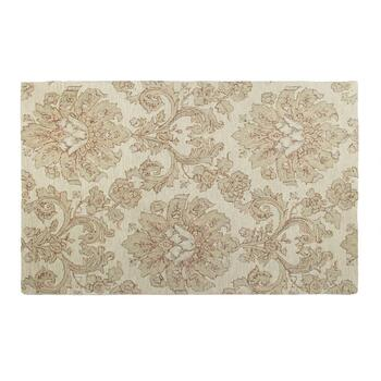 5'x8' Ivory/Gray Floral Wool Area Rug