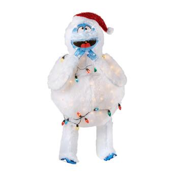 "48"" Bumble Lighted Snow Monster Yard Decor"