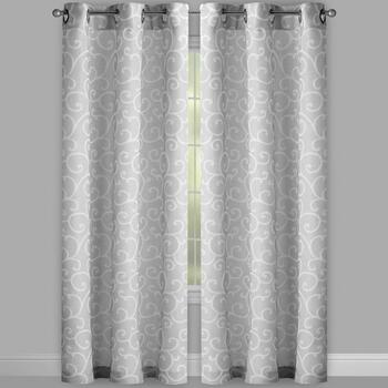 Evolution Scroll Grommet Window Curtains, Set of 2 view 2