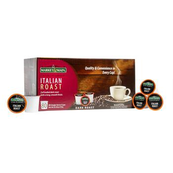 Market & Main® Italian Roast Coffee Pods, 80-Count