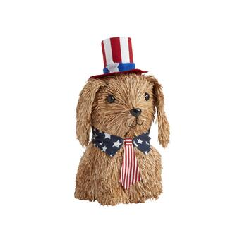 Americana Sisal Dog with Tie