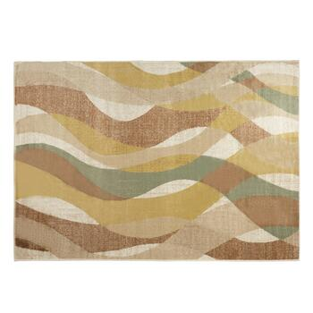 5'x7' Green/Blue/Brown Wave Area Rug