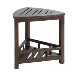 Dark Brown Acacia Wood Bath Stool