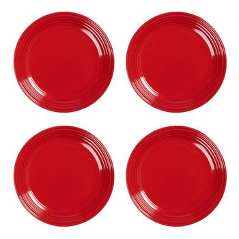 Bistro Brights Red Salad Plates, Set of 4