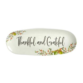 """Thankful"" Heavyweight Melamine Trays, Set of 2 view 2"