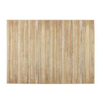 5'x7' Solid Beige Striped Area Rug