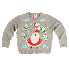 Santa LED Ugly Christmas Sweater