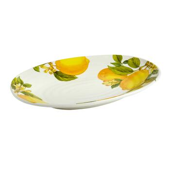 "17.5"" Lemons Oval Serving Platter"