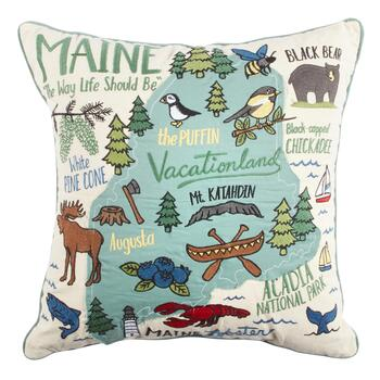 The Way Life Should Be Maine Square Throw Pillow Christmas Tree Shops And That Home Decor Furniture Gifts Store